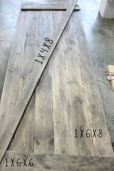 Simple DIY Barn door tutorial - Jen @ Noting Grace shares how easily it is to sw. - Simple DIY Barn door tutorial – Jen @ Noting Grace shares how easily it is to switch out a builde - Porte Diy, Renovation Design, Diy Sliding Barn Door, Sliding Doors, Entry Doors, Diy Barn Door Plans, Barn Door Pantry, Making Barn Doors, Small Basements