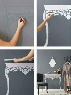 creative! i wish i had a place to do this!