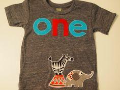 Circus theme Birthday Shirt Animals Organic blend birthday tee for boys and girls Carnival elephant zebra. $28.00, via Etsy.