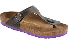 birkenstock iron oiled leather gizeh
