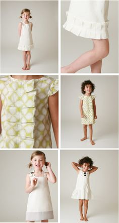 Cute dress patterns for little girls... SO EASY !!