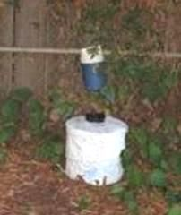 This is a BG Sentinel Trap. It attracts female mosquitoes hoping to find a meal…
