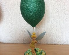 Celebration Minnie large glitter wine glass by TashasGlitter