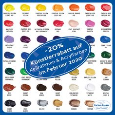 Letzte Chance!!!  Hol dir im Februar noch deine -20% Künstlerrabatt auf Keilrahmen und Acrylfarben bei Farben Steger.  Wir freuen uns auf deinen Besuch und beraten dich gerne!  #künstlerrabatt #aktion #acrylfarben #keilrahmen #lefrancbourgoise #liquitex #farbensteger #shopping #josalzburg Cobalt Blue, Magenta, Purple, Airbrush, Liquitex, Red And Pink, Hue, Eyeshadow, Orange