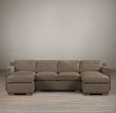 Collins Upholstered U-Chaise Sectional With Nailheads