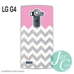 Pink Silver Glitter Chevron Phone case for LG G4