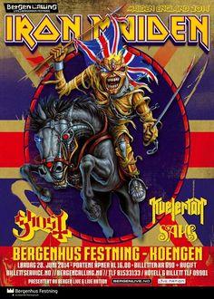 Mini Print of Iron Maiden - Bergenhus - Koengen