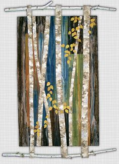 Marjan Kluepfel: Fabric Artist-Quilt Teacher - Trees Gallery I like how the trees act as supports, too.