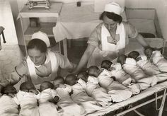 nurses working with babies
