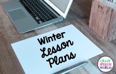 Crazy Speech World:  Winter Themed Therapy Plans!