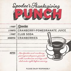 #Thanksgiving #drink #recipe