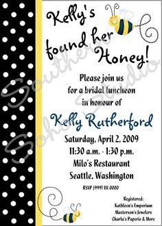 Bride found her Honey Bee  5x7 Bridal Shower by SouthernSohoStudio, $17.50