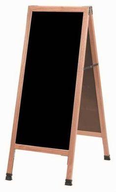 "A-3P - 42""H x 18""W Oak Frame w/Black Acrylic | Sale Price: $109.55"