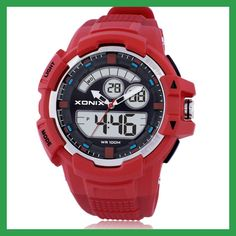 XONIX Precise New Outdoor LED Luminous Digital Multifunction ANA Display Electronic Watches Men Waterproof MW