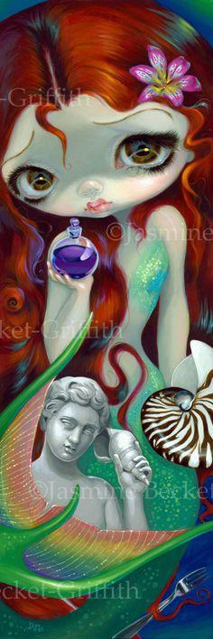The Little Mermaid fairytale redhead mermaid