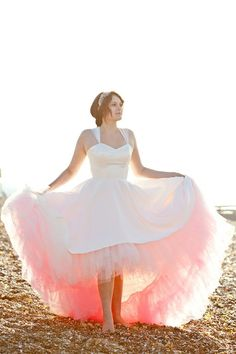 must have the tulle the same color as the bridesmaid dresses! (but not seen unless lifted up)