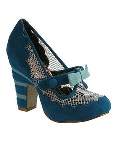 This Blue Feather Boa Pump by Irregular Choice is perfect! #zulilyfinds