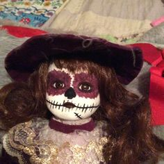 Musical 17in Day of The Dead Doll Musical by grandmaswitchesbroom on Etsy