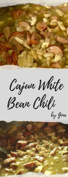This delicious Cajun White Bean Chili is packed with chicken and andouille sausage, making it a thick and meaty chili sure to please the whole family. It cooks up beautifully in your favorite dutch oven or deep cast iron skillet.