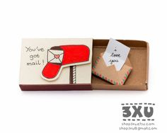 Birthday Cards Delivered ~ Happy birthday card matchbox gift box message box by shop xu