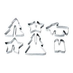 SNÖKUL Pastry cutter, set of 6, stainless steel $3.99	 Article Number:  102.331.03 You can join the pieces together to make a standing ...