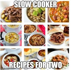 Slow cooker recipes for two