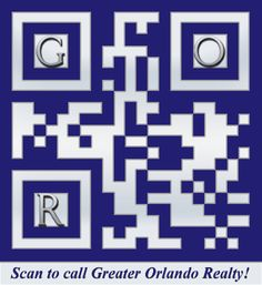 This QR code incorporates Greater Orlando Realty's color scheme in both the overlay and the gradient. We also added the G, O, and R initials for additional branding.