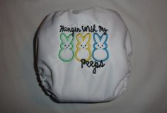Cute easter diaper by cutesytushies on etsy.