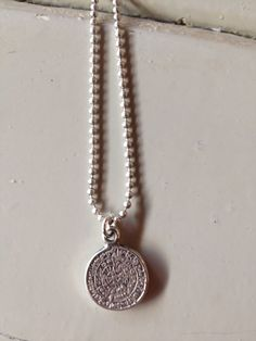 Long DQ ballchain necklace with DQ silver coin.