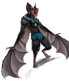 Camazotz - It's a bat god from Maya mythology. But I thought the concept was interesting, so I'm including it here: He's a man-sized bat who drinks the blood of his enemies. I'm pretty sure this is what Batman would reincarnate as, supposing he dies. But he would never die. Because he's Batman. Camazotz
