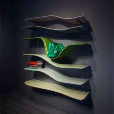 landscape collection Maxim Velcovsky #deco #decoration #etagere Modern Bookcase, Bookcase Shelves, Bookshelf Ideas, Bookcases, Shelving, Cool Furniture, Modern Furniture, Furniture Design, Modern Contemporary Homes