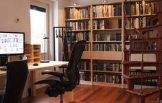 My own workspace with Lundia shelves and Lundia tables. Hans Monasso