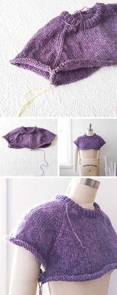 How to improvise a top-down sweater, Part 4: Separating the sleeves and body