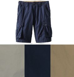 ff19086f Tommy Hilfiger Boys Cargo Shorts Solid Cotton Youth size 6 8 10 12 18 NEW