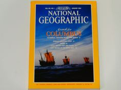 National Geographic Magazine January 1992 - Search for Columbus - Miami - Africa's Skeleton Coast - USS Macon - Monk Seal - Vintage Magazine by notesfromtheattic on Etsy