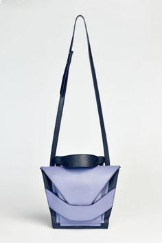 Linda Sieto Purple Layered Bag in Purple