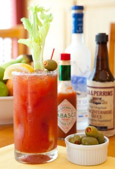 Bloody Mary..   not just for breakfast, it's sooo good after a day in the hot sun!!