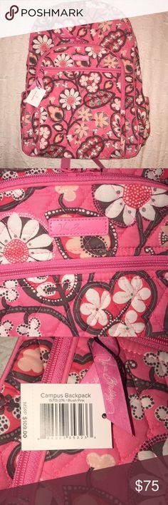 Vera Bradley Campus Backpack in Blush Pink Vera Bradley Campus Backpack in Blush Pink; NWT 🎀 Vera Bradley Bags Backpacks