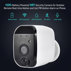 Smart Home Add On Hd Security Camera 100 Wire Free Night Vision Surveillance