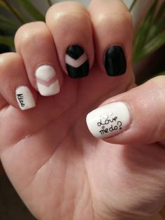 My black and white nail version