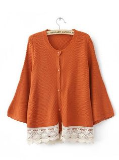 Red  Bat Long Sleeve  Sweater with Lace $42.00