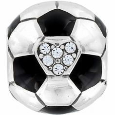 Love soccer? Show it on your bracelet with this soccer bead!  Soccer Ball Bead  available at #Brighton