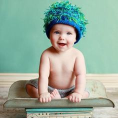 Zooni Blue Grass Boy Beanie for Babies and Kids #Melondipity