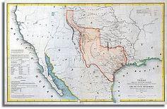 The Republic of Texas 1844 map Republic Of Texas, The Republic, Texas History, Us History, United States Map, University Of Texas, State Map, Historical Maps, Antique Maps