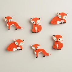 One of my favorite discoveries at WorldMarket.com: Fox Harvest Felt Clips, 6-Pack