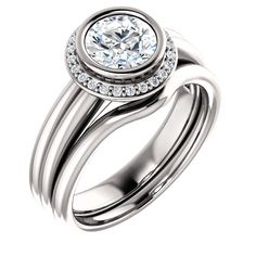 1.0 Ct Round Diamond Engagement Ring 14k White Gold – Goldia.com