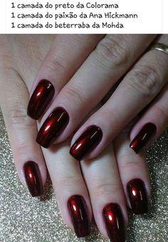 As mulheres, não importam seu estilo ou idade, querem sempre estar bonitas em todos os momentos de suas vidas, inclusive no trabalho, local que pede uma unha caprichada, porém, mais discreta. Dependendo do trabalho as mulheres podem usar todas as cores de esmaltes e decorações, entretanto, o mais indicado é usar o bom senso para… Dark Nails, Glam Nails, Hot Nails, Beauty Nails, Hair And Nails, Perfect Nails, Gorgeous Nails, Pretty Nails, Nail Polish Art