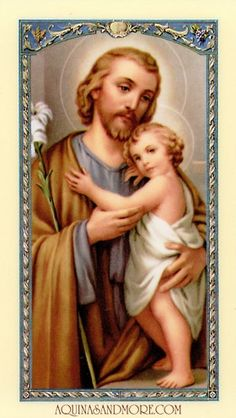 A happy and most blessed Solemnity of St Joseph to everyone. St Joseph Pray for us! Catholic Doctrine, Catholic Art, Catholic Saints, Patron Saints, Roman Catholic, Vintage Holy Cards, Religion, Mary And Jesus, Religious Images