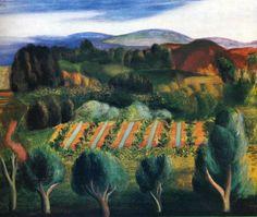 lilacsinthedooryard:  Moise KislingProvence Landscape  1918