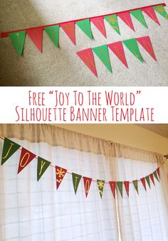 """Free """"Joy to the World"""" Banner Silhouette Cut File 